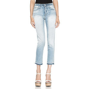 AMO High Rise Babe Sweet Cheeks Raw Hem Jean